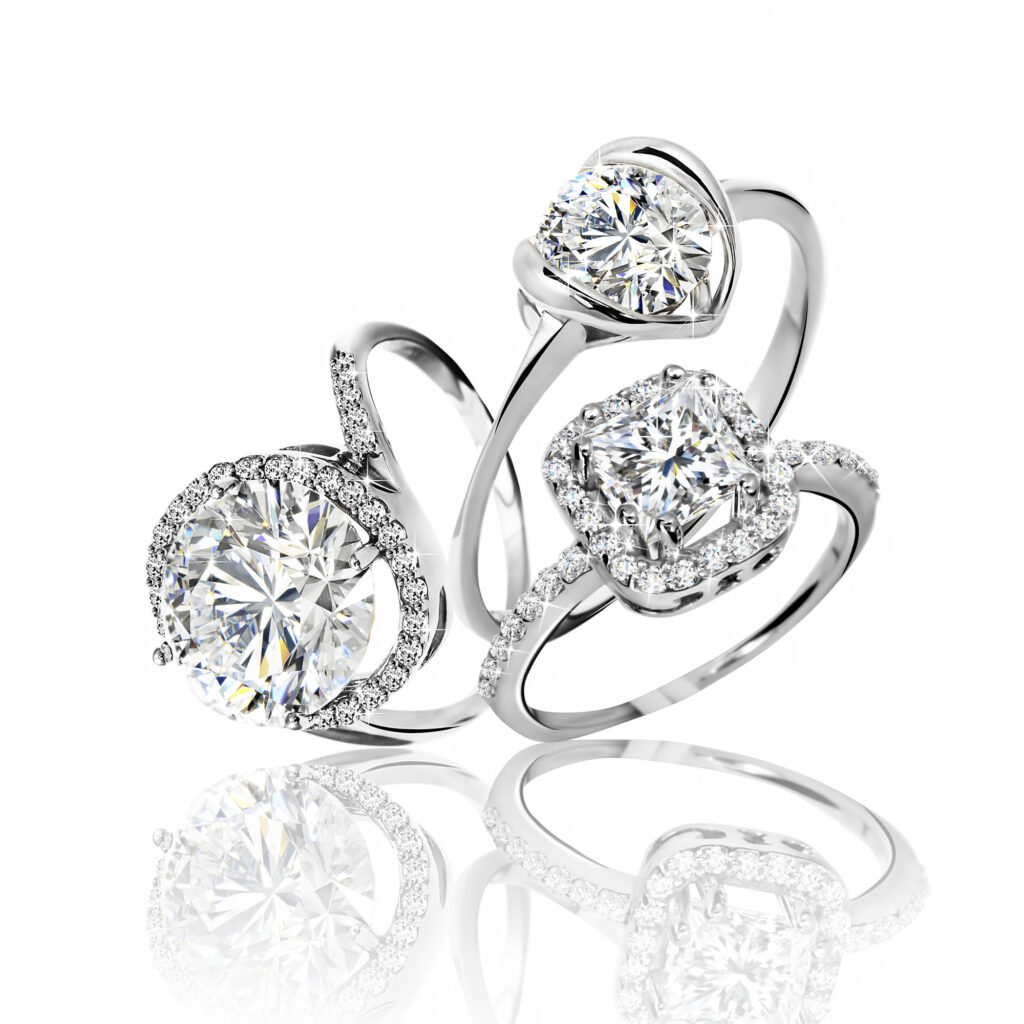 Set of rings. Best wedding engagement ring